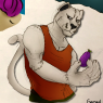 On today's piece we see Randle, in his relaxed fit, looking at a piece of unnamed fruit like he just saw it vent //