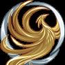 Lucian's Sunbird pin. It is always worn. ~Elle