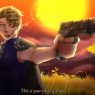 Orion and his gun, Canis Minor