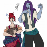 Aearion trying to impress his fellow Merfolk, who is clearly thrilled by him and loves that he's around.