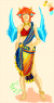 Mana's fabulous getup from when he was still 'captive' in Dabria's tribe.