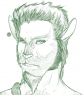 This is a more recent attempt at expressing Carradoch's facial structure.