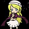 Mallory in the Puyo Puyo art style