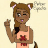 A newer ref of Amber, drawn by me